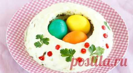 Салат Пасхальный венок, пошаговый рецепт с фото