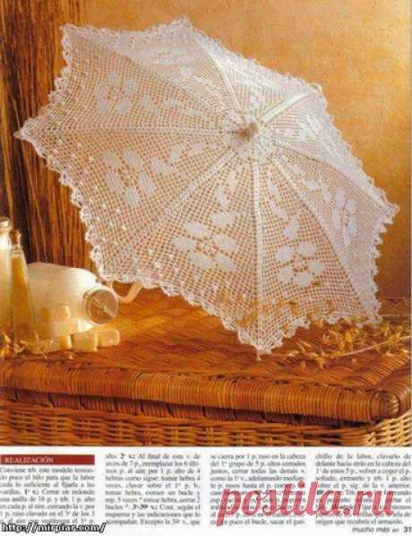 Очень красивые ажурные зонтики крючком: мастер-класс и схемы… - Домоводство - медиаплатформа МирТесен