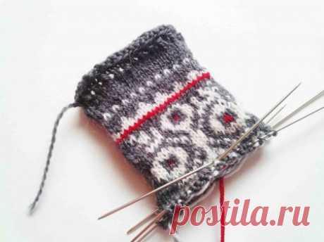 Варежки спицами с жаккардовым узором » «Хомяк55» - всё о вязании спицами и крючком