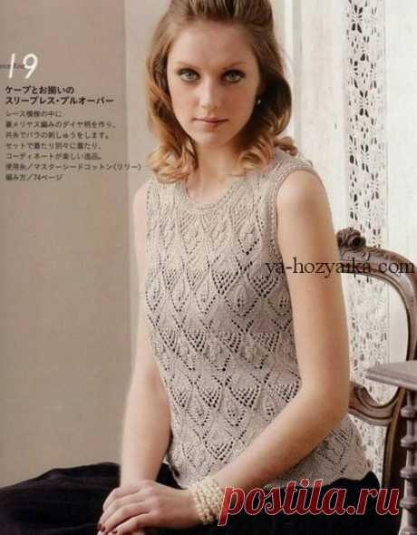 Вязание спицами схемы и модели из японских журналов. Японский ажур спицами схема вязания