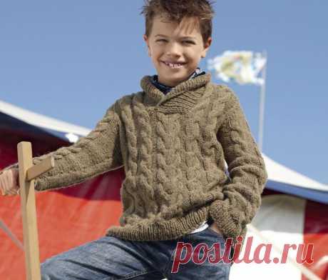 Вязаный пуловер для мальчика » Женский Мир