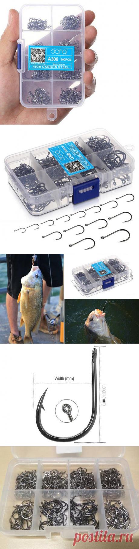 Комплект рыболовных крючков из высокоуглеродистой стали DONQL с Алиэкспресс   Super-Blog