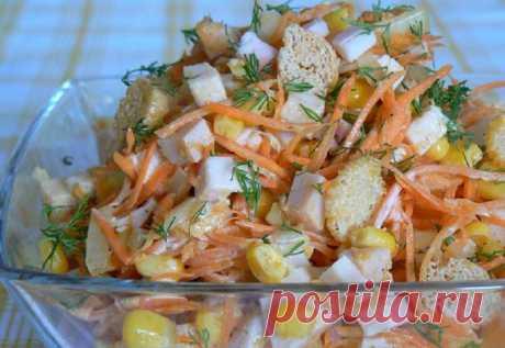 Салат «Карусель» — настоящая палочка-выручалочка для всех хозяек — Вкусные рецепты