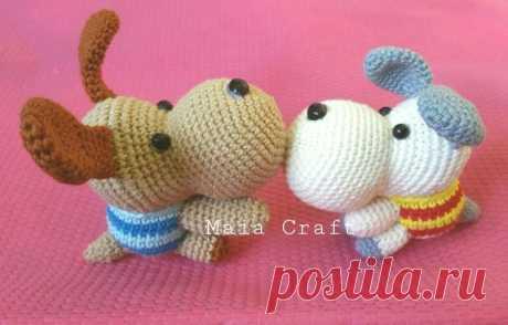 Собачка амигуруми крючком: схема вязания игрушки