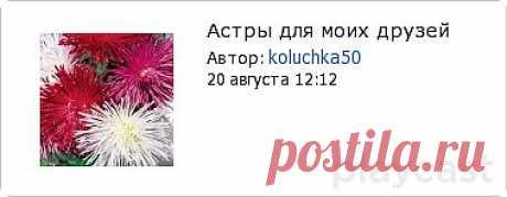 Плэйкаст «Астры для моих друзей»