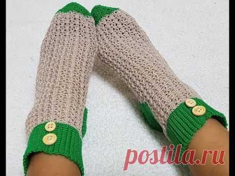 Ажурные носки крючком/ Носки крючком/Мастер класс