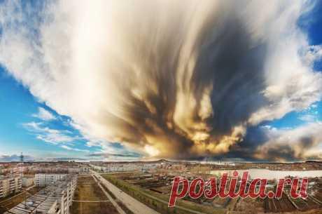«El semblante celeste». Revda, la región de Sverdlov. El autor de la foto – Mijaíl Lezhnev: nat-geo.ru\/photo\/user\/340404\/