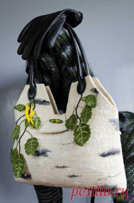 """Купить Сумка валяная """" Берёзовый сон"""". - сумка, женская сумка, войлочная сумка, стилизация"""