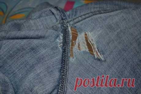 Как штопать джинсы