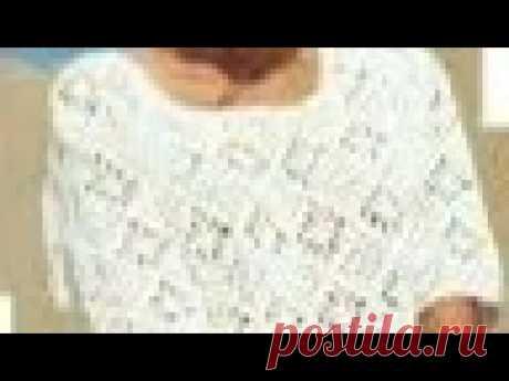 Узор крючком для летнего джемпера - Crochet pattern for summer sweater