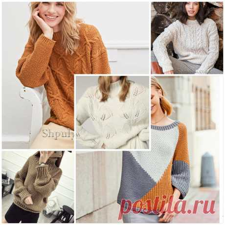 Подборка модных пуловеров и свитеров спицами | Схемы, фото, описание | Вязание и рукоделие от Софьи | Яндекс Дзен