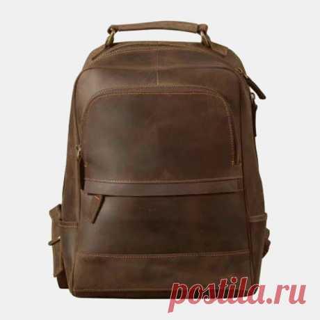 Men Vintage Light Weight Large Capacity Travel Backpack - US$69.99