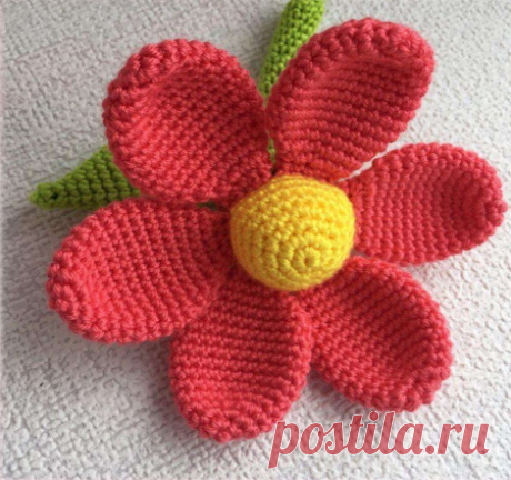 Цветок крючком для новичков в вязании   Be Creative   Яндекс Дзен