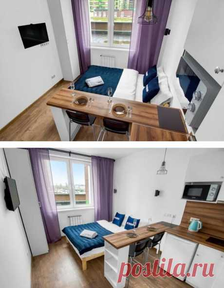 Изящный интерьер квартирки, площадь которой всего 20 квадратов
