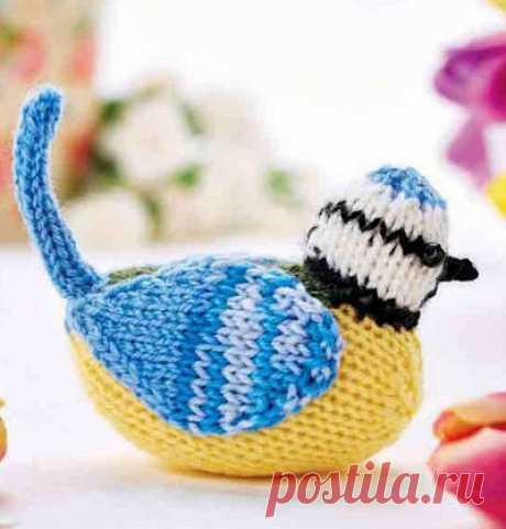 Вязаная птичка «Голубая синица» | DAMские PALьчики. ru