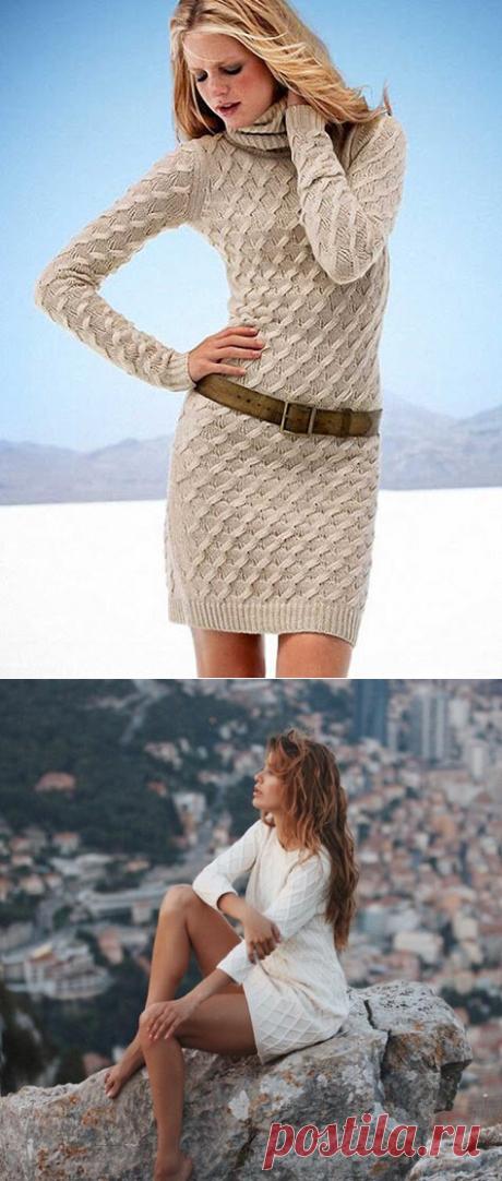 Стильные платья спицами | Модное вязание | Яндекс Дзен