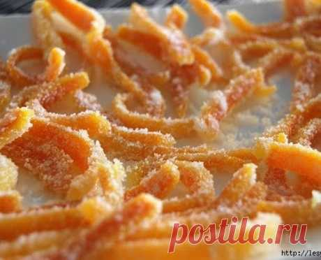 Вкусные цукаты из отходов апельсина своими руками