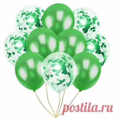 10 шт., латексные шары шары розового золота с конфетти, вечерние 12 дюйм(ов) купить на AliExpress