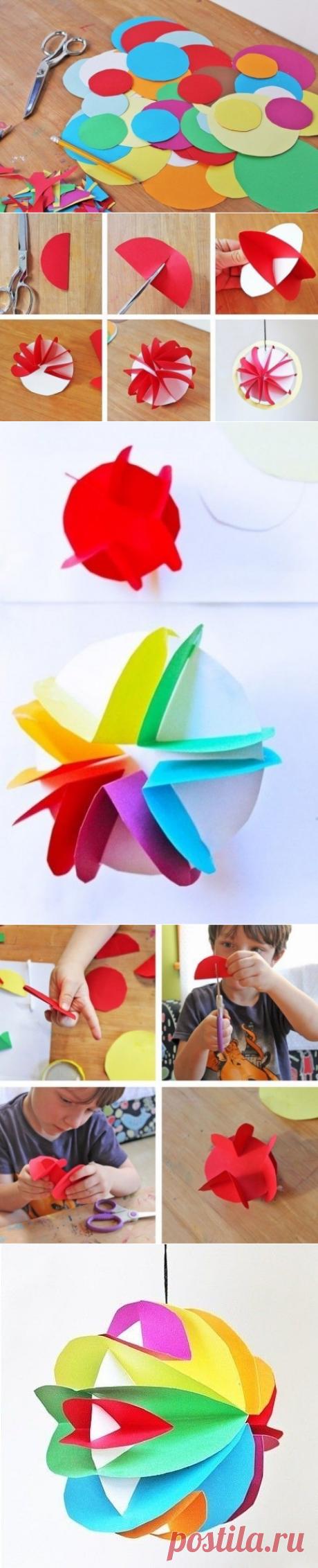 Интересный шар из бумаги