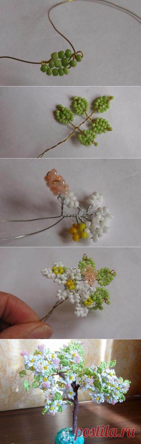 Как из бисера сделать яблоневое дерево: мастер-класс   Domigolki.ru