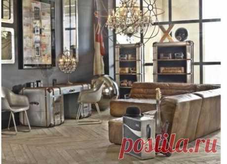 Интерьер в тиле стимпанк, как правильно оформить комнаты в стиле паропанк, или стимпанк, выбор мебели, светильники, отделочные материалы, декор комнат в стиле стимпанк.