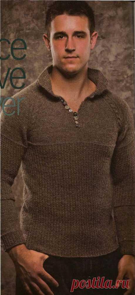 Вязаный стильный мужской пуловер из Creative Knitting 09-2010 - Вяжи.ру