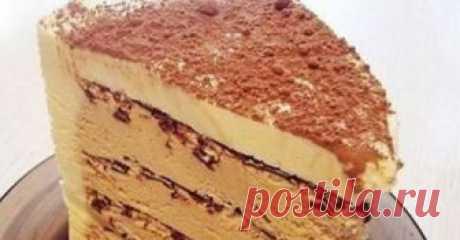 РЕЦЕПТЫ И СОВЕТЫ ХОЗЯЙКАМ: Торт «Кофе с шоколадом» без духовки…