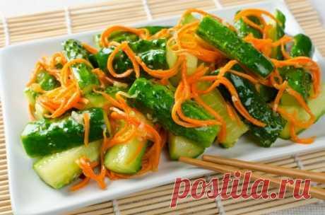 Острый салат из моркови, имбиря и огурцов - Кулинарный рецепт - Повар в доме
