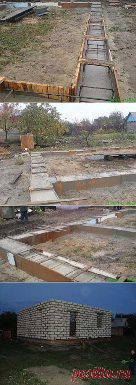 Истории строительства - фундамент - Построим дом и дачу сами