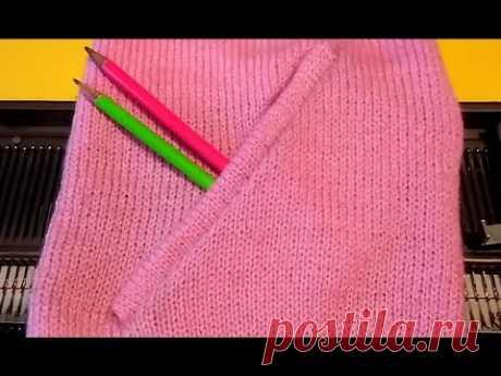 साइड पॉकेट स्वेटर में मशीन से कैसे बनाए इन हिंदी | Side Pocket