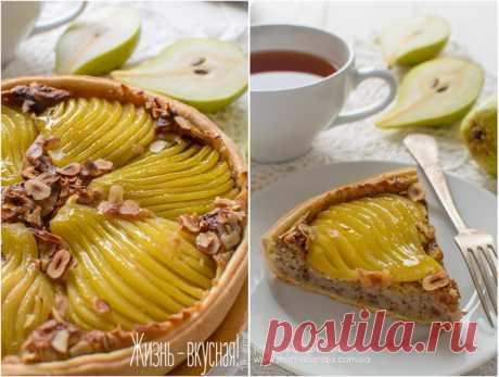 Тарт Бурдалу с грушами в сиропе с шафраном и ванилью — Фактор Вкуса