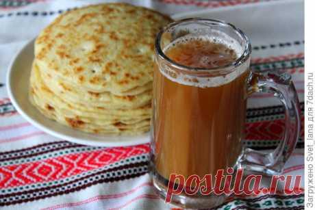 Квас из ржаного хлеба - пошаговый рецепт приготовления с фото