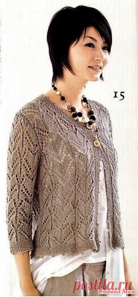 Ажурный жакет спицами. Let's knit series NV80112_