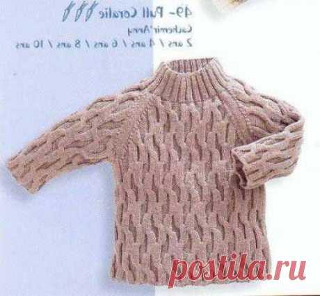 Вязание свитера для мальчика   Вязание спицами и крючком для детей.