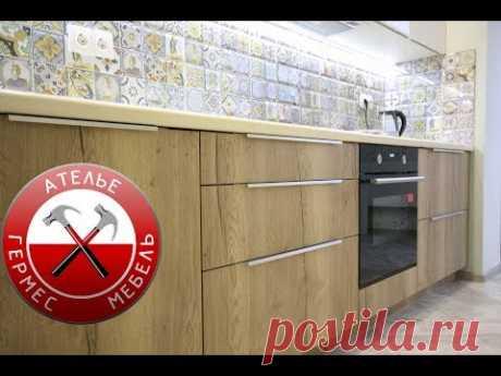 Прямая кухня в ПОТОЛОК. Обзор № 85.