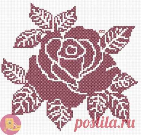 """Схемы """"Розы"""" для вышивки или вязания — Сделай сам, идеи для творчества - DIY Ideas"""
