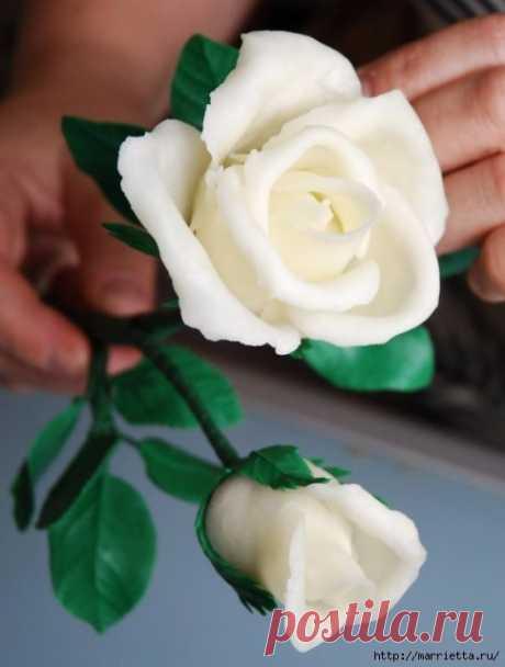 Розы из холодного фарфора: мастер-класс — Сделай сам, идеи для творчества - DIY Ideas