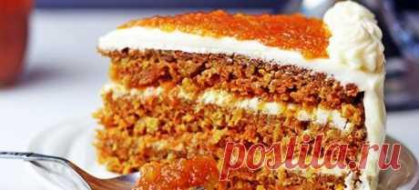 Постный морковный торт с кремом, грецкими орехами и апельсинами - рецепты в духовке и мультиварке
