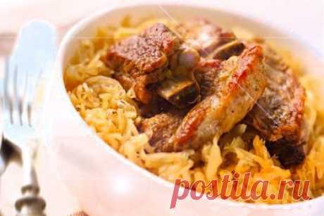 Свиные рёбра с капустой тушеные очень вкусно - простой рецепт оригинального приготовления