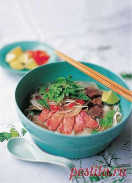 Рецепт вьетнамский супа Фо Бо. Фо Бо – блюдо вьетнамской кухни. Обратите внимание, что в рецепте присутствует говяжья или телячья вырезка, которую в суп кладут … в сыром виде, что уж никак не характерно для нашей кухни. Правда, нарезается мясо исключительно тонко, поэтому можно надеяться, что когда оно заливается кипящим бульоном, какая-то термическая обработка все-таки происходит. Если вы не уверены на 100% в качестве и свежести сырого мяса, возможно, лучше заменить его сыровяленным.