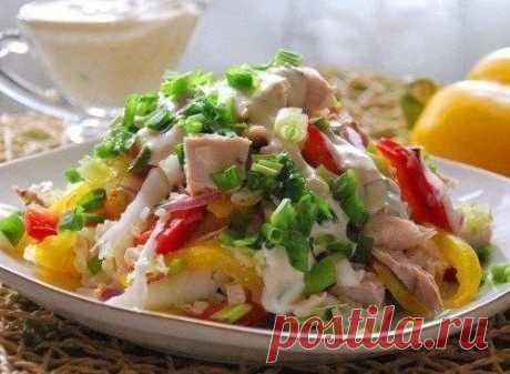 Как приготовить салат с куриным филе радуга - рецепт, ингридиенты и фотографии