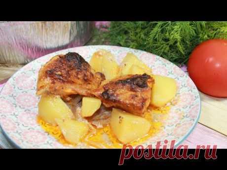 Очень вкусный картофель с мясом в духовке
