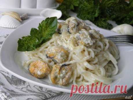 Паста с мидиями в сливочном соусе - пошаговый рецепт с фото на Повар.ру