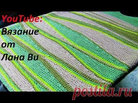 Вязание спицами: как вязать укороченные ряды - 3 МК. Вязаный топ-майка спицами - частичное вязание