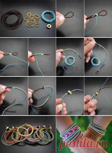 Браслеты своими руками: как сделать простые и красивые браслеты