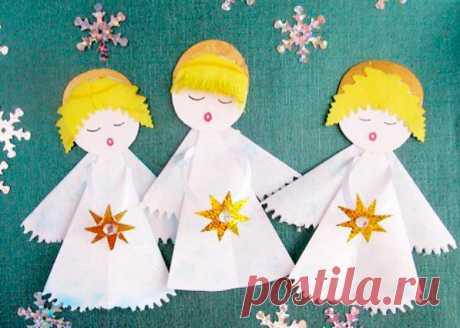 Поделки на Рождество из бумаги своими руками. Создание поделок к любому празднику — очень увлекательное занятие для детишек и...