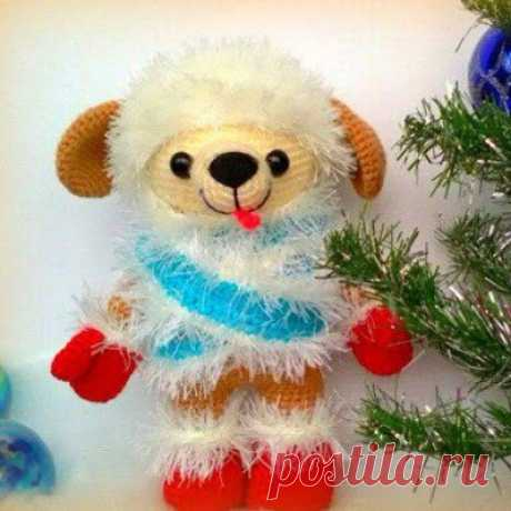1000 схем амигуруми на русском: Вязаный щенок Моська
