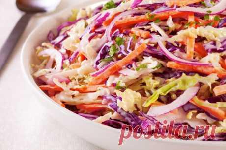 Салат из краснокочанной капусты / Простые рецепты