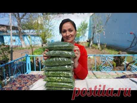 Чтобы не тратится зимой на зелень узбеки делают так!!!Узбекистан.