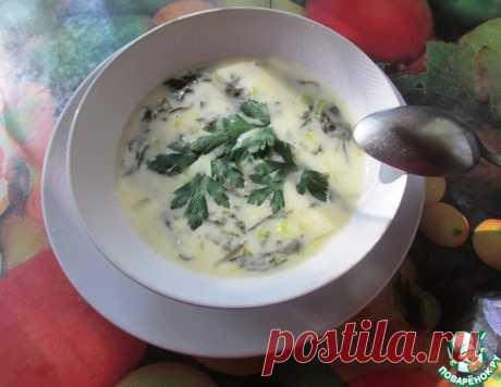 """Суп из щавеля """"Бархатный"""" – кулинарный рецепт"""
